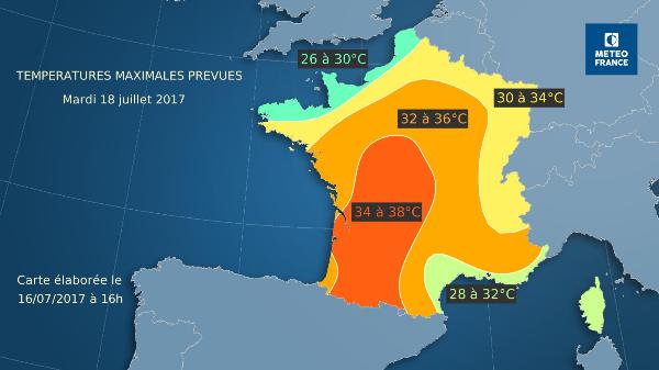 Meteo La Jonchère Par Météo France Prévisions Météo
